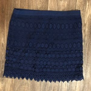 🎃2 FOR 22 - Navy Blue Lace Mini Skirt